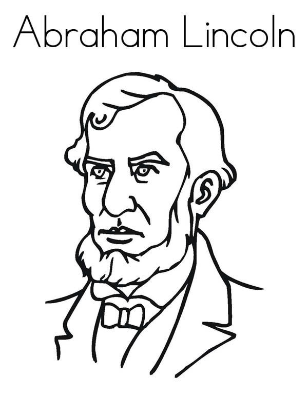 abraham lincoln coloring pages print - photo #27