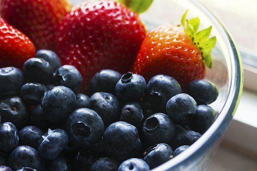 Berries, Blueberries, Bowl
