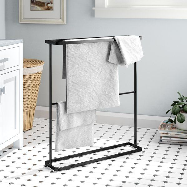 Free Standing Towel Stands Are Great For Keeping Your Walls
