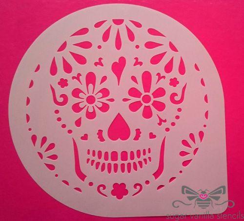 Cake Pattern Stencils : Best 25+ Sugar skull cakes ideas on Pinterest Skull ...