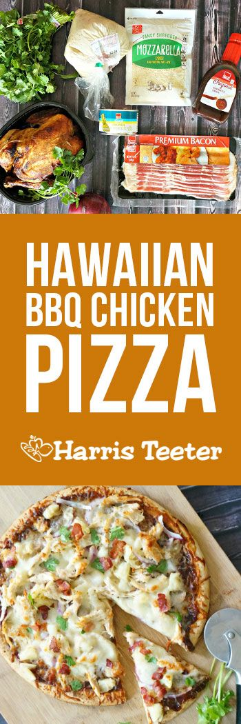 No need for takeout with this winning recipe!  Combining your favorite flavors in this easy to make Hawaiian BBQ Chicken Pizza recipe!