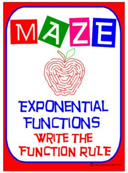 Maze - Exponential Functions: What is the Rule?