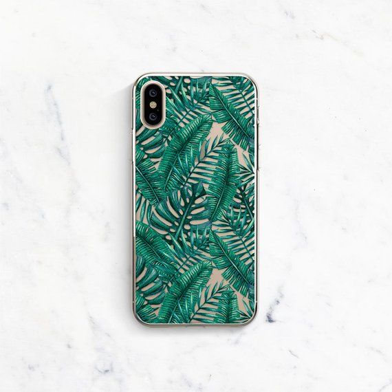 iphone xs max case palm leaves