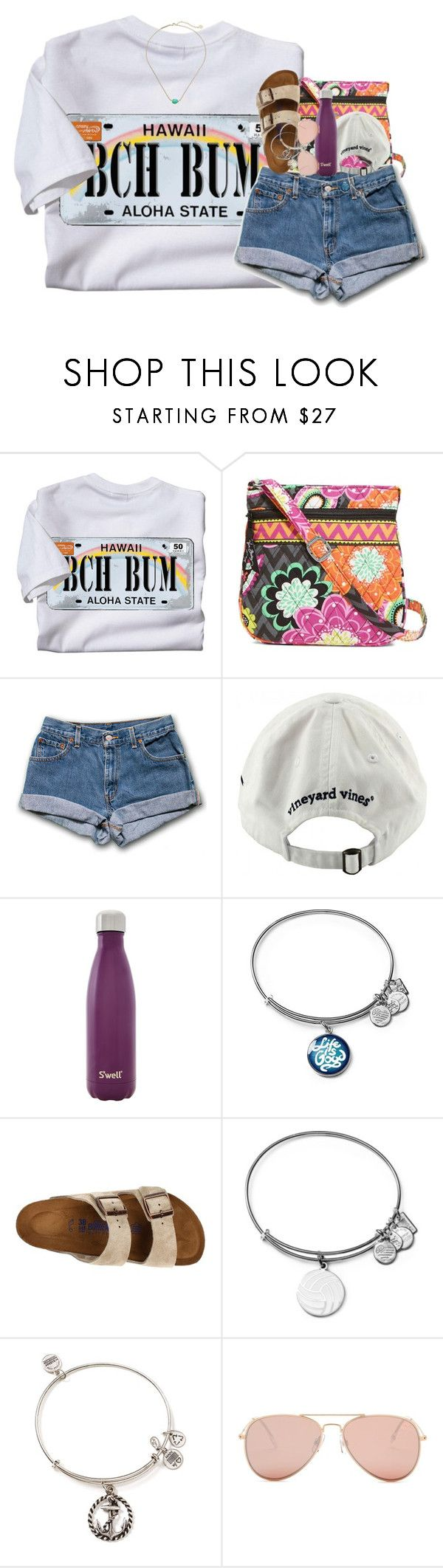 """""""a LOT in the D!"""" by pineappleprincess1012 ❤ liked on Polyvore featuring Vera Bradley, Vineyard Vines, S'well, Alex and Ani, Birkenstock, Betsey Johnson and Kendra Scott"""