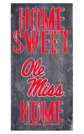 Is your home an Ole Miss Football Home? Then you need this sign. This Ole Miss sign is perfect for displaying around the home. It includes a piece of rope attached to the back for hanging. The sign is