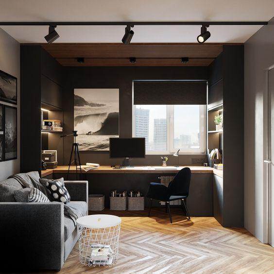 Modern Home Office Designs Home Office Setup, Home Office Space, Office Table, Office Ideas, Office Interior Design, Office Interiors, Office Designs, Minimalist Interior, Contemporary Interior