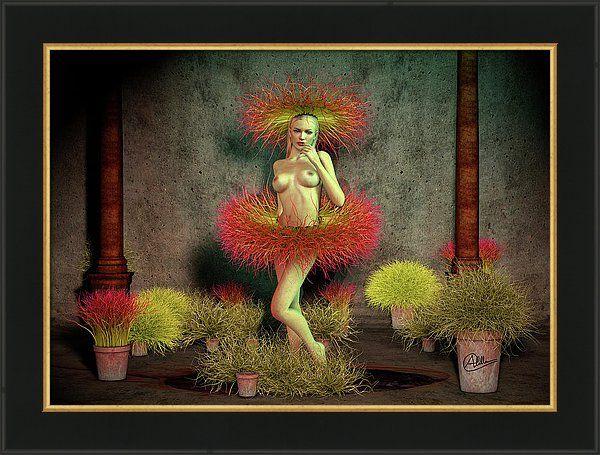 3d Art Framed Print featuring the digital art Antes Muerta Que Sencilla by Joaquin Abella (scheduled via http://www.tailwindapp.com?utm_source=pinterest&utm_medium=twpin&utm_content=post82899205&utm_campaign=scheduler_attribution)