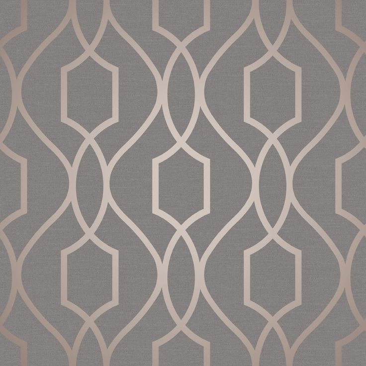 A stylish metallic copper geometric design on a flat charcoal background form the Fine Decor Apex collection