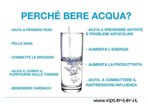 bere acqua è importantissimo, ecco perchè.