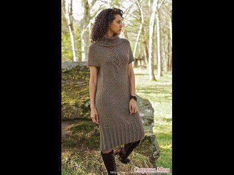 (24) Платье спицами. Часть 1. Итальянский набор петель. Полая резинка. - YouTube