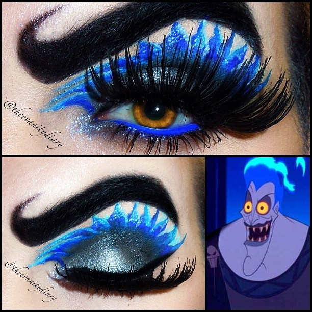 Disney Hercules - Hades Inspired Eye Makeup