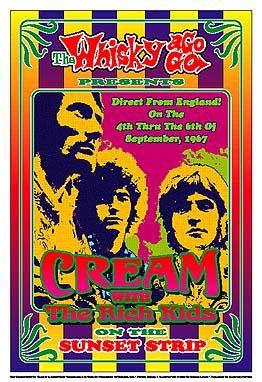 Vintage Cream concert poster.