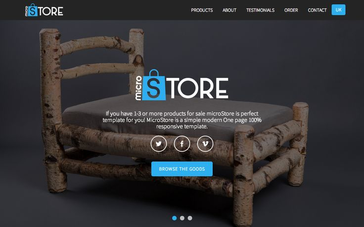 microStore ecommerce Template