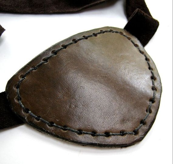 Brown Leather Eye Patch Steampunk Dark Brown Eyepatch Pirate Cosplay on Etsy, $19.50