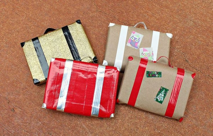Wrap Gifts to Look Like Retro Suitcases - Part of the fun of gift giving is the presentation: how you wrap it!  This idea can be adapted for any size present.…