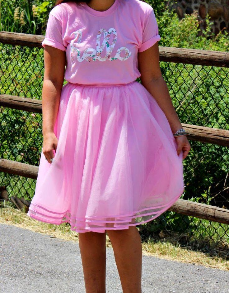 @Hello Apparel tee shirt and @eShakti.com tuelle skirt