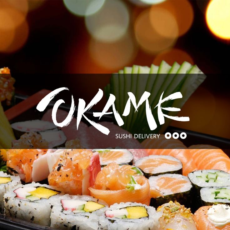 Logotipo para Okame Sushi Delivery #calligraphy #lettering #okame #logotype #design #sushi