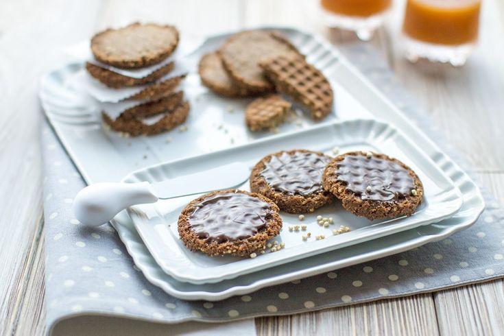 Biscotti integrali all'avena e cioccolato