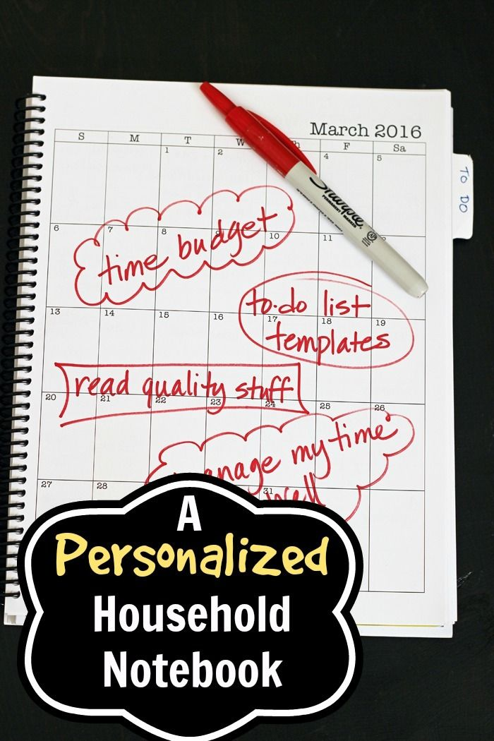 Personalized Household Notebook - Doing It My Way | Life as Mom  A personalized household notebook is a homemaker's best friend. I've tried lots of methods of binding my notebook, and have found that the spiral binding is key.   http://lifeasmom.com/personalized-household-notebook-doing-it-my-way/