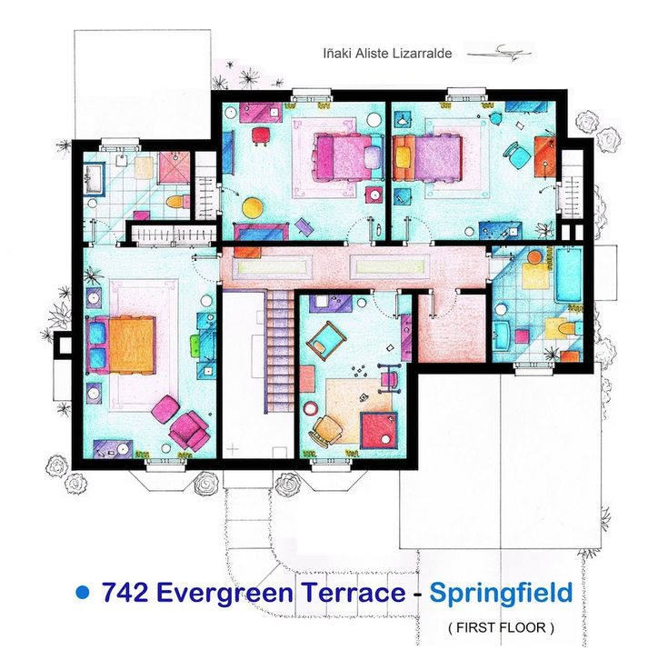 Simpson's homw floorplan - 2nd floor