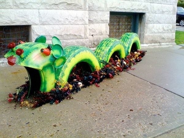 40 ideias de artesanatos com reciclagem de pneus usados » Artesanato Brasil
