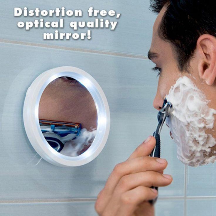 Make-up Spiegel Rasieren spiegelglas Vakuum saugnapf LED-licht make-up lupe verstärkung 5 mal badezimmerspiegel