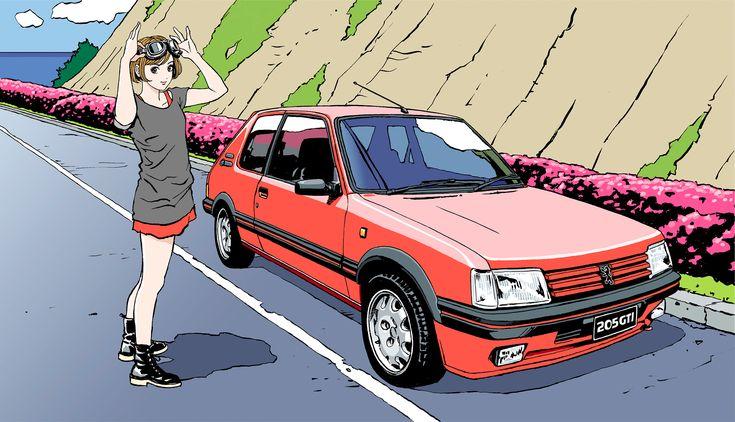 プジョー「208GTi」発売企画として江口寿史のグラフィック・ノベルを公開! - Autoblog 日本版