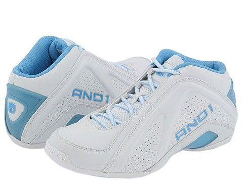 And1 Amaze Mid Carolina Men's size 12 light blue & white basketball shoes from Men's Foot Locker