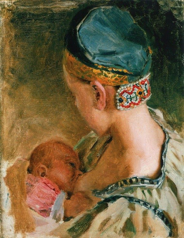 Akseli Gallen-Kallela (1865 - 1931), pictor şi grafician finlandez   - Karelian Mother