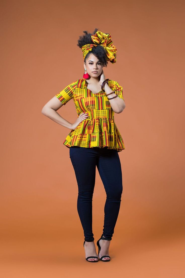 African Print Taina Top| Grass-fields|Look the part wherever you go