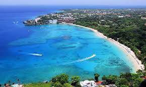 Caribbean vakantie: Sosúa stad aan de noordkust van de Dominicaanse Re...