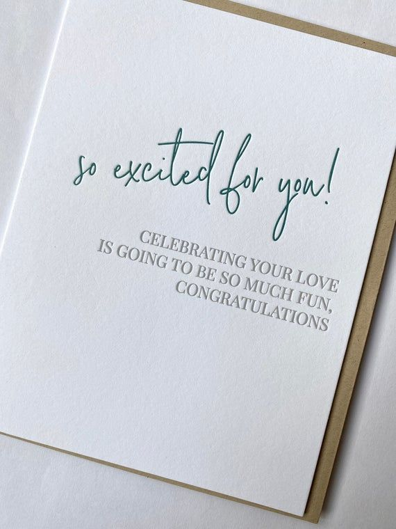 Engaged Excitement Engagement Congratulations Card Etsy In 2020 Engagement Congratulations Wedding Card Messages Engagement Congratulations Message