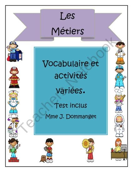 Les Métiers from Les Aventures de Miss Maam Madame on TeachersNotebook.com (20 pages)