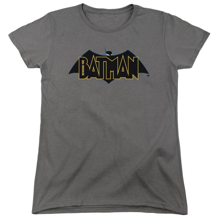 Beware the Batman Logo Charcoal Womens T-Shirt