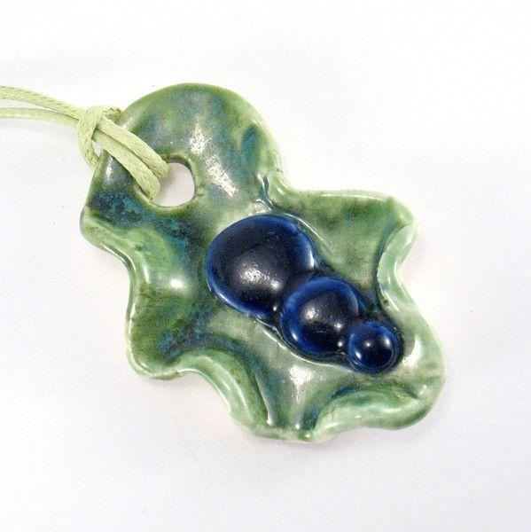 Ceramic Pendants – Ceramic pendant – a unique product by Zielonepalce on DaWanda