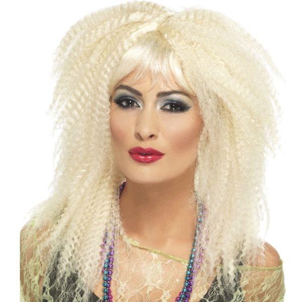 Sixties/seventies pruiken bij warenhuis Trendmax, Jaren 80 krullen pruik,4,4blondes,80,80`s,blond,blondes,courtney,courtneylove,dolly,dollyparton,krul,love
