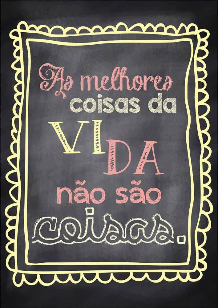 Poster Fofo tipo Lousa - Melhores Coisas - Sabrina Matias