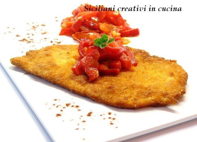 Paprika-schnitzel di pollo (cotoletta di pollo con peperoni e pomodori alla paprika)   SICILIANI CREATIVI IN CUCINA   di Ada Parisi