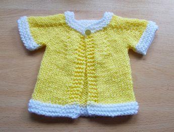 2b523c9cd marianna s lazy daisy days  Cute Cardigan for a Teddy or Baby Doll ...