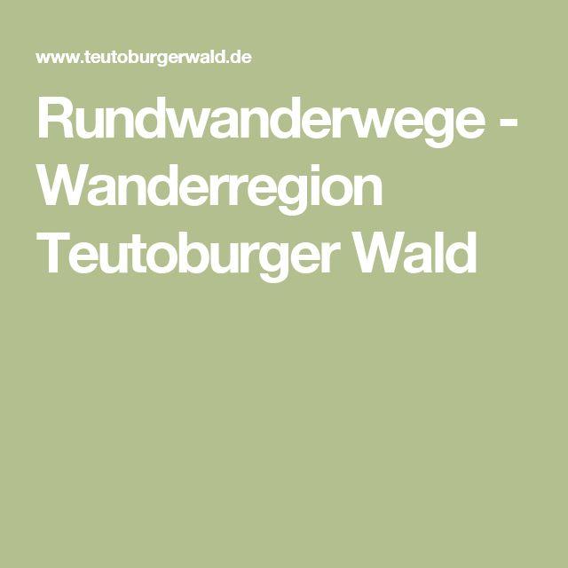 Rundwanderwege - Wanderregion Teutoburger Wald