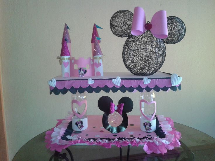 "Chupetera- dispensador de dulces. ""Minnie Mouse"" | centerpieces ..."