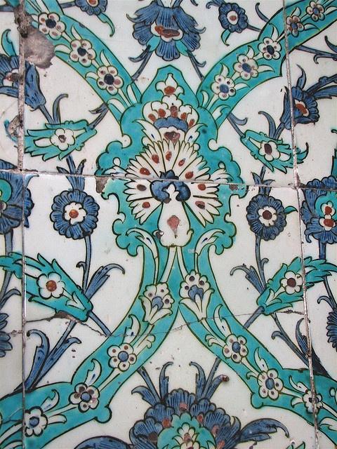 Tiles, Topkapi Palace by Carol Schaffer