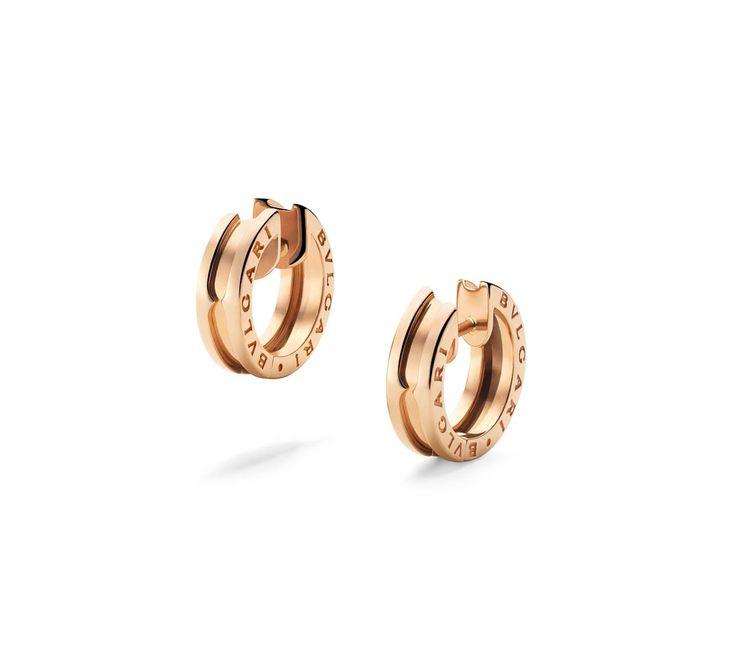 BZero1 Pink Gold Small Earrings 345506