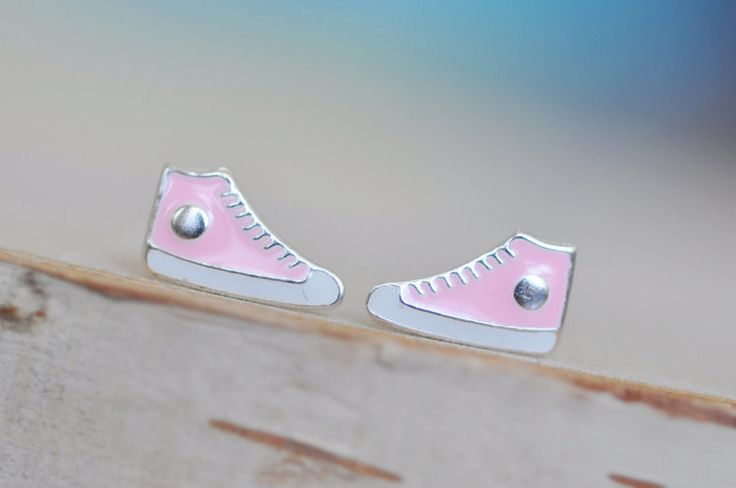 Too cute...perfect for your little Tomboy! * Sneaker measures 6mm x 10mm * All components including butterfly backing are made with Sterling Silver 925 finished with enamel