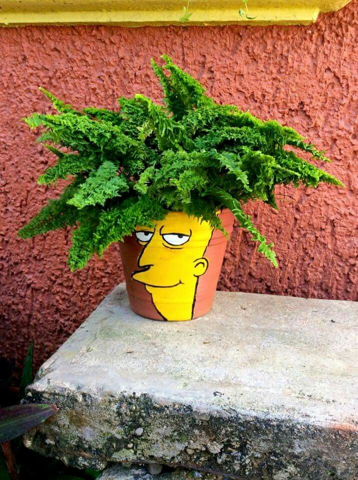 Sideshow Bob planter