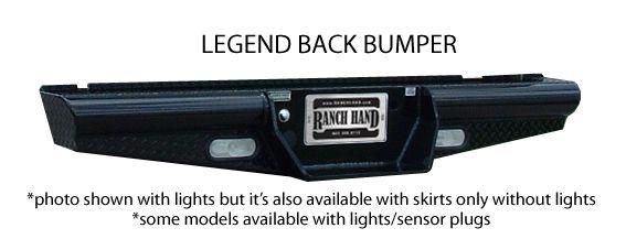 "Ranch Hand - Ranch Hand BBC998BLS 8"" Drop Legend Rear Bumper Chevy 1500HD/2500LD 1999-2006 Classic"