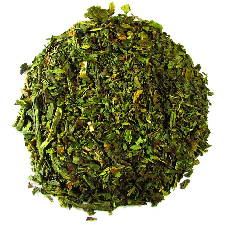 Mint Bliss – Full Leaf Tea Company  Sencha green tea is blended with premium peppermint and dashed with spearmint leaves. The perfect cup for relaxation and a soothing sensation. #greentea