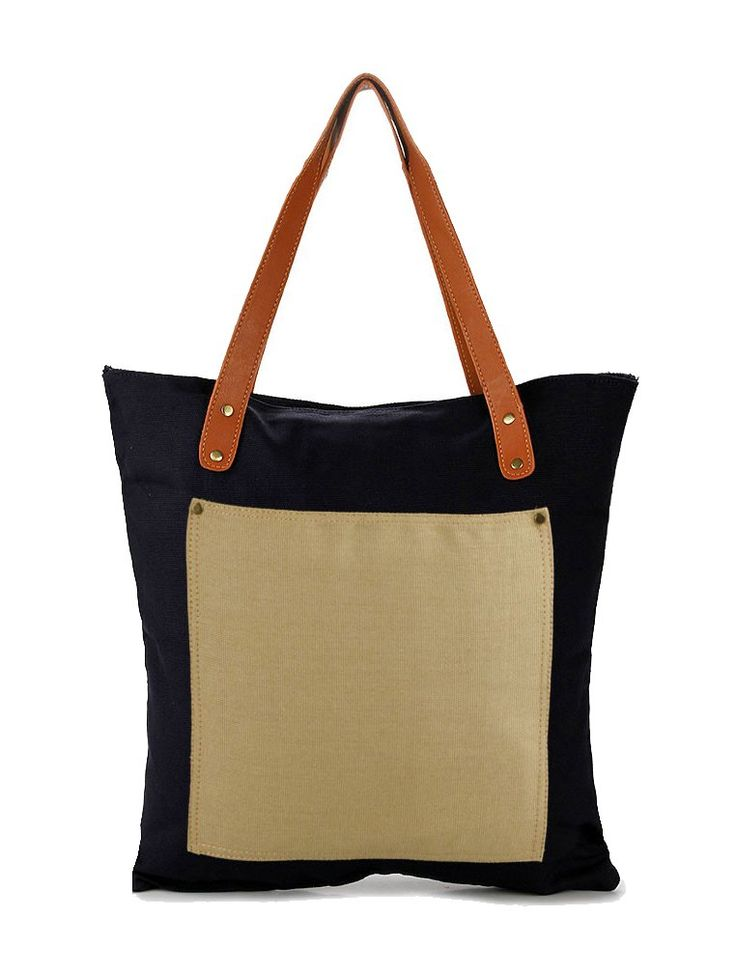 Alvino Bags by Justine. Black tote bag that made from canvas and cordura fabric, this tote bag has a zipper closure, one main compartment, handle drop 28 cm, simple but stylish tote bag for everyday use. http://www.zocko.com/z/JIYVZ