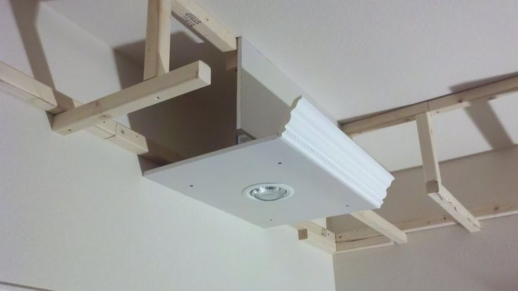 Building A Soffit With A Downlight And Moulding 1 Of 2