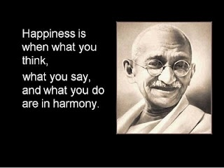 Mahatma Gandhi #quotes. Happiness happens when everything is in harmony.